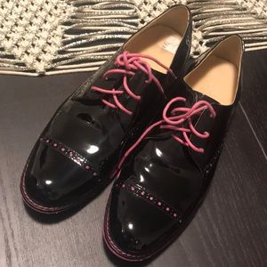 Cole Haan pink and black 7.5 Oxford shoes